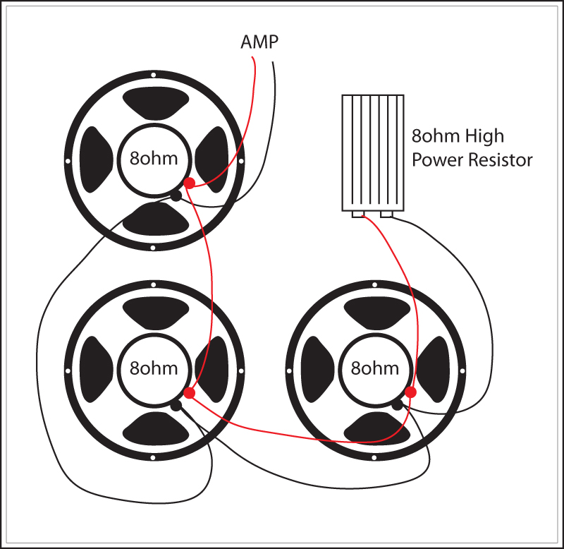 super reverb  replace one speaker with high power 8 ohm resistor