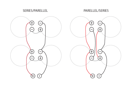 speaker_wiring_diagram series vs parellel 4 x speaker wiring comparison clips fender super reverb speaker wiring harness at mifinder.co